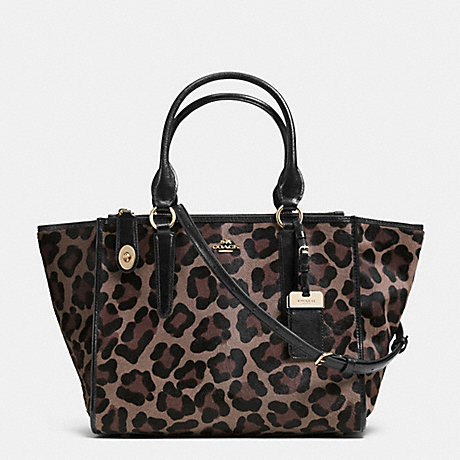 COACH F33610 CROSBY CARRYALL IN PRINTED HAIRCALF LIGHT-GOLD/BROWN-MULTI