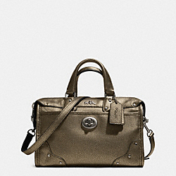 COACH RHYDER 24 SATCHEL IN METALLIC LEATHER - QBBRS - F33684