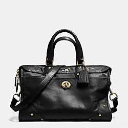 RHYDER SATCHEL IN LEATHER - f33689 - LIGHT GOLD/BLACK