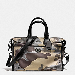 COACH RHYDER 33 SATCHEL IN CAMO PRINT METALLIC LEATHER - QBMTI - F33747