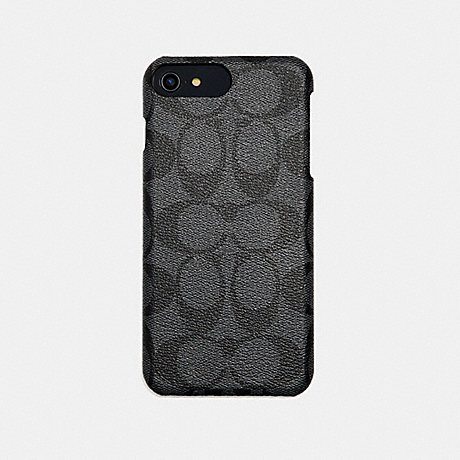 COACH SIGNATURE PHONE CASE - GRAY - f33750