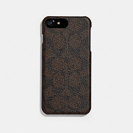 COACH SIGNATURE IPHONE 7 PLUS CASE - MAHOGANY - f33750