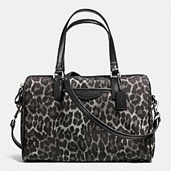 COACH SIGNATURE STRIPE NANCY SATCHEL - SILVER/GREY MULTI - F33755