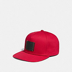 COACH FLAT BRIM HAT - RED - F33774
