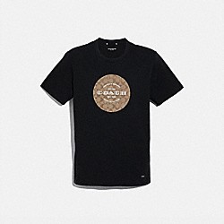 COACH SIGNATURE T-SHIRT - BLACK - COACH F33780