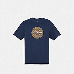 COACH SIGNATURE T-SHIRT - NAVY - COACH F33780
