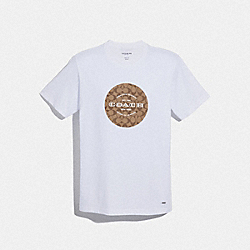 COACH SIGNATURE T-SHIRT - WHITE - COACH F33780