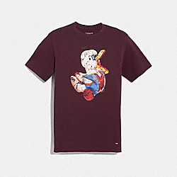 DUCK T-SHIRT - BURGUNDY - COACH F33785