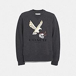 EAGLE GRAPHIC SWEATSHIRT - CHARCOAL - COACH F33787