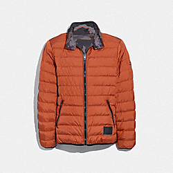 REVERSIBLE DOWN JACKET - RUST GREY CAMO - COACH F33790