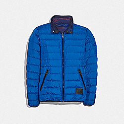 REVERSIBLE DOWN JACKET - BLUE BLUE CAMO - COACH F33790