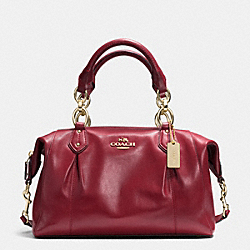 COACH COLETTE LEATHER SATCHEL - IM/CRIMSON - F33806