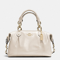 COACH COLETTE LEATHER SATCHEL - IM/IVORY - F33806