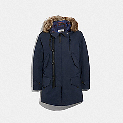 3-IN-1 DOWN PARKA WITH SHEARLING - NAVY - COACH F33815