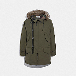 3-IN-1 DOWN PARKA WITH SHEARLING - OLIVE - COACH F33815