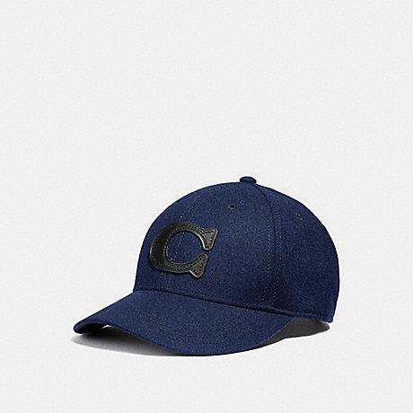COACH COACH NEW YORK WOOL HAT - NAVY - F33818