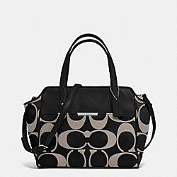 COACH TAYLOR SIGNATURE BETTE MINI TOTE CROSSBODY - SILVER/BLACK/WHITE/BLACK - F33834
