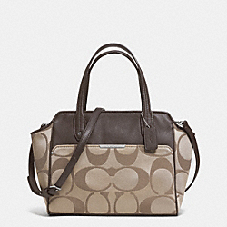 COACH TAYLOR SIGNATURE BETTE MINI TOTE CROSSBODY - SILVER/KHAKI/MAHOGANY - F33834