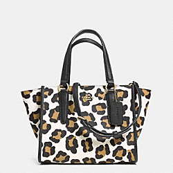 COACH MINI CROSBY CARRYALL IN OCELOT PRINT LEATHER - LIGHT GOLD/WHITE MULTICOLOR - F33845