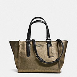 COACH CROSBY MINI CARRYALL IN METALLIC LEATHER - VA/BRASS - F33848