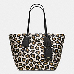 COACH COACH TAXI TOTE 28 IN OCELOT PRINT LEATHER - LIGHT GOLD/WHITE MULTICOLOR - F33851