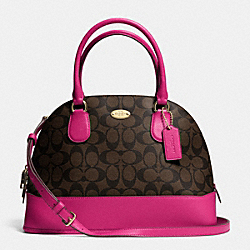 COACH CORA DOMED SATCHEL IN SIGNATURE - IME9T - F33904