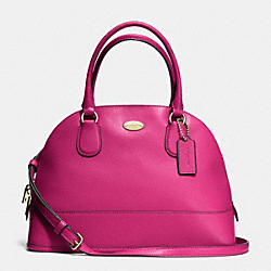 COACH CORA DOMED SATCHEL IN CROSSGRAIN LEATHER - IMCBY - F33909