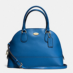 COACH CORA DOMED SATCHEL IN CROSSGRAIN LEATHER - IMDEN - F33909