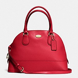 COACH CORA DOMED SATCHEL IN CROSSGRAIN LEATHER - IMITATION GOLD/CLASSIC RED - F33909
