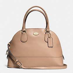 COACH CORA DOMED SATCHEL IN CROSSGRAIN LEATHER - LIGHT GOLD/NUDE - F33909