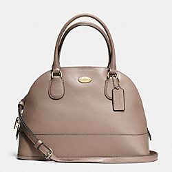 COACH CORA DOMED SATCHEL IN CROSSGRAIN LEATHER - LIGHT GOLD/STONE - F33909