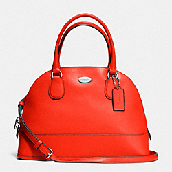 COACH CORA DOMED SATCHEL IN CROSSGRAIN LEATHER - SILVER/ORANGE - F33909