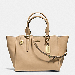COACH CROSBY CARRYALL IN CROSSGRAIN LEATHER - LIGHT GOLD/NUDE - F33995