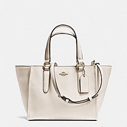 COACH CROSBY MINI CARRYALL IN CROSSGRAIN LEATHER - LIGHT GOLD/CHALK - F33996