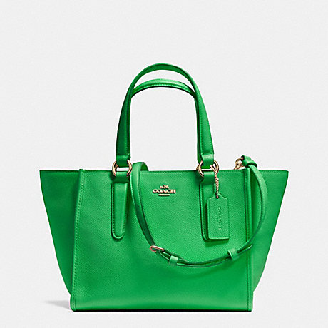 COACH f33996 CROSBY MINI CARRYALL IN CROSSGRAIN LEATHER LIGRN