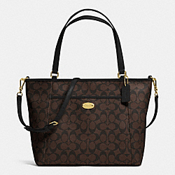 COACH POCKET TOTE IN SIGNATURE - IMITATION GOLD/BROWN/BLACK - F33998