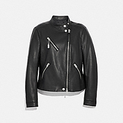 UPTOWN RACER JACKET - BLACK - COACH F34021
