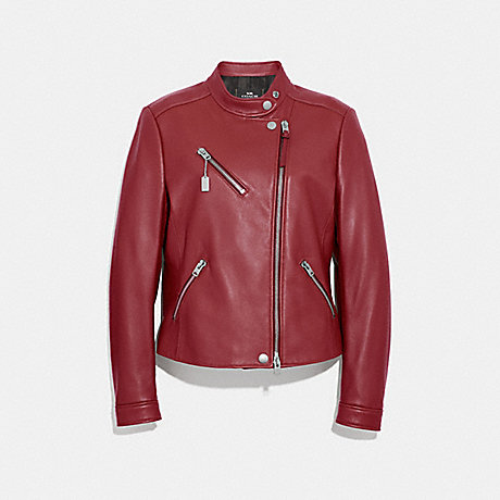 COACH UPTOWN RACER JACKET - CHERRY - F34021