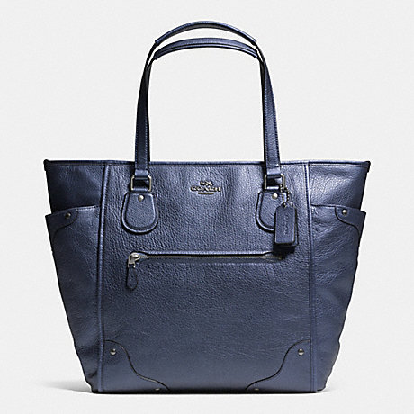 COACH f34039 MICKIE TOTE IN GRAIN LEATHER ANTIQUE NICKEL/PEARLIZED DENLIGHT GOLD