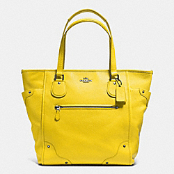 COACH MICKIE TOTE IN GRAIN LEATHER - QB/YELLOW - F34039