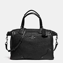MICKIE SATCHEL IN GRAIN LEATHER - f34040 - ANTIQUE NICKEL/BLACK