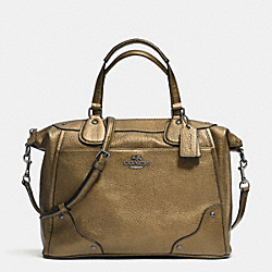 MICKIE SATCHEL IN GRAIN LEATHER - f34040 - ANTIQUE NICKEL/BRASS
