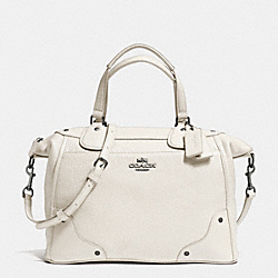COACH MICKIE SATCHEL IN GRAIN LEATHER - ANTIQUE NICKEL/CHALK - F34040