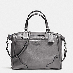 COACH MICKIE SATCHEL IN GRAIN LEATHER - ANTIQUE NICKEL/SILVER - F34040