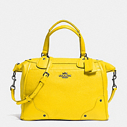 COACH MICKIE SATCHEL IN GRAIN LEATHER - QB/YELLOW - F34040