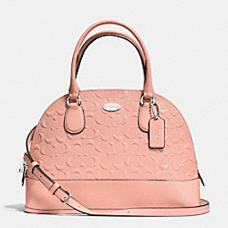COACH CORA DOMED SATCHEL IN DEBOSSED PATENT LEATHER - SILVER/BLUSH - F34052