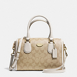 COACH MINI BENNETT SATCHEL IN SIGNATURE CANVAS - LIGHT GOLD/LIGHT KHAKI/CHALK - F34084
