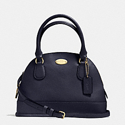 COACH MINI CORA DOMED SATCHEL IN CROSSGRAIN LEATHER - IMITATION GOLD/MIDNIGHT - F34090
