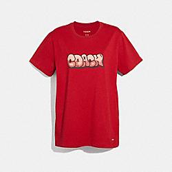 COACH HIP-HOP T-SHIRT - RED - F34115