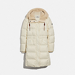 COACH LONG PUFFER - CREAM - F34128